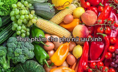 thuc pham cho phu nu sau sinh